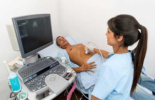 Abdominal sonogram procedure