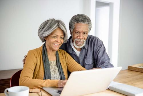 Couple reviewing medical document