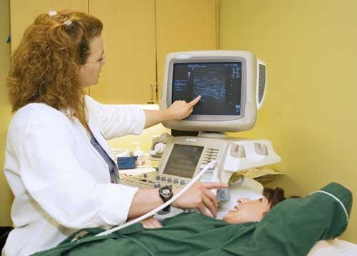 Breast ultrasound examination